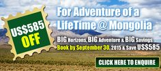 Check out the #Mongolia #Motorcycle #tour for Adventure of a Lifetime! http://extremebiketours.com/motorcyle-tour-to-mongolioa-big-horizons-big-adventure-and-big-savings/