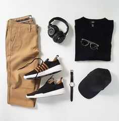 Black and brown outfit ideas for men