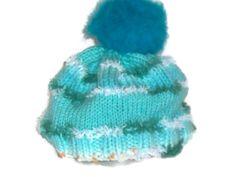 Hand Knit Girls Turquoise  Fun Hat with a Pom Pom  by Shelly6262 https://www.etsy.com/treasury/NTM5ODkzNXwyNzI2ODIxNDAy/talking-turquoise