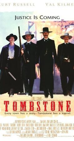 "Tombstone, Kurt Russell, Val Kilmer, Sam Elliott - his voice.my friends say I ""like"" the bad boys. Sam Elliott, Tombstone Movie Quotes, Tombstone Arizona, Val Kilmer, Wyatt Earp, Jason Priestley, Doc Holliday, Old Movies, Digital Cinema"