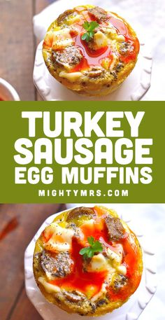 This recipe for Turkey Sausage Egg Muffins is super easy and makes a great breakfast on-the-go. These are make-ahead and can be stored in the fridge or freezer then reheated using the microwave. Or serve fresh from the oven. Perfect for breakfast or brunch! Made with healthy turkey sausage, cheese, eggs, tater tots and thyme. You can also make with bacon or other types of sausage. Simple and delicious oven-baked recipe. Made using muffin cups. Use cupcake liners for easy clean up. Breakfast On The Go, Free Breakfast, Breakfast Casserole, Breakfast Ideas, Breakfast Recipes, Sausage Egg Muffins, Sausage And Egg, Turkey Sausage, Egg Muffin Cups
