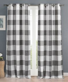 Look at this #zulilyfind! Gray Checker Aaron Blackout  Curtain Panel - Set of Two #zulilyfinds