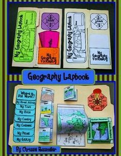 Having students create a lap book as a great way for them to study facts about the different regions and vocabulary.