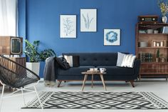Stylish room with elegant retro sofa and vintage bookshelf living room interior royalty free stock images stock photo Home Staging, Living Room Paint, Living Room Decor, Feng Shui, Cute Dorm Rooms, Wooden Decor, Furniture Sale, Furniture Buyers, Furniture Websites