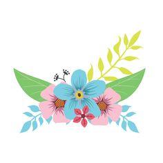 Floral Illustrations, Pencil Illustration, Bg Design, Simple Artwork, Kids Graphics, Quilt Labels, Flower Doodles, Flower Frame, Cute Stickers