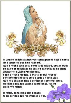 Comunidade Católica Milagre da Vida: 06/08/12 Blessed Mother Mary, Blessed Virgin Mary, Holy Mary, Catholic Prayers, Power Of Prayer, Meditation, Faith, Namaste, 30