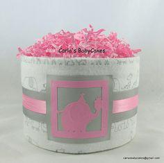 Mini diaper cake  Baby shower decoration  by MsCarlasBabyCakes