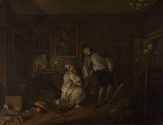 "William Hogarth - Marriage à la mode, ""the Bagnio"" - 1743-45 - olio su tela - National Gallery, Londra"
