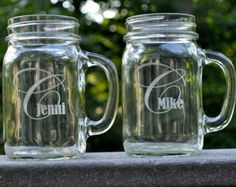 Personalized Champagne Glasses Champagne Flutes by mrcwoodproducts
