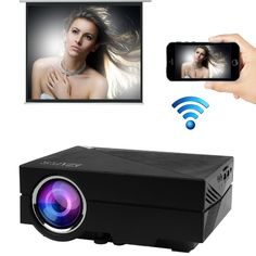 Ezapor Wireless Display Mini Projector GM60A WIFI 130 Inch Screen 800x480 1000 Lumen Enjoy Video Movie Game