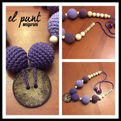 Collar de lactancia crochet www.facebook.com/elpuntamigurumis