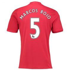 Manchester United 16-17 Marcos Rojo 5 Hjemmedraktsett Kortermet.  http://www.fotballteam.com/manchester-united-16-17-marcos-rojo-5-hjemmedraktsett-kortermet.  #fotballdrakter