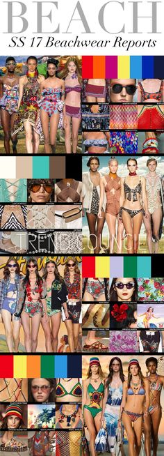 TRENDS // TREND COUNCIL - BEACHWEAR . SS 2017
