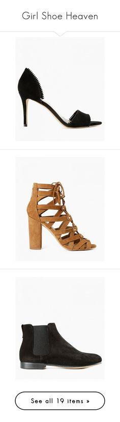 """Girl Shoe Heaven"" by azaleasf on Polyvore featuring shoes, pumps, black, black pumps, loeffler randall pumps, black d orsay pumps, kohl shoes, black suede pumps, dark saddle and strap high heel shoes"