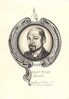 Manuel Ocampo by Matthew Couper  2008  Pencil on paper  148mm x 210mm