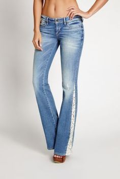 70s Mid-Rise Flare Jeans in Rossen Wash | GUESS.com sale now $70 ...