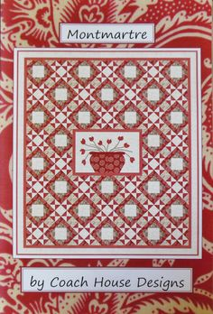 """Coach House Designs by Barbara Cherniwchan pattern - Montmartre - Finished size about 62"""" by 70"""""""
