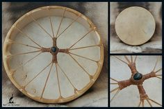 "14"" Reindeer Shamanic Drum with Jet"