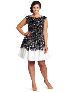 Jessica Simpson Women's Plus Size Boat Neck Dress