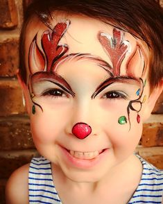 Christmas reindeer face painting