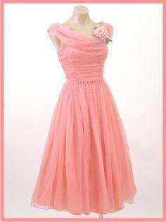 Beautiful Pink 1950's Prom Dress