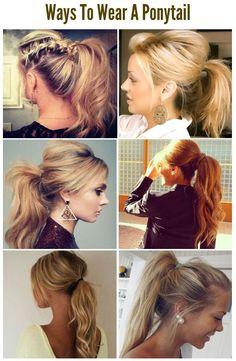 chic ponytails