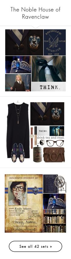 """The Noble House of Ravenclaw"" by leah1992 ❤ liked on Polyvore featuring art, hogwarts, ravenclaw, magic, NARS Cosmetics, Palma, Tory Burch, Alexander Wang, Paige Denim and GUESS"