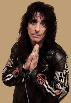 Alice Cooper. I know that no one on this Earth is perfect. The Bible says so. I'm praying for the best for him and his wife. Keep living your life for God my brother in Christ. <3