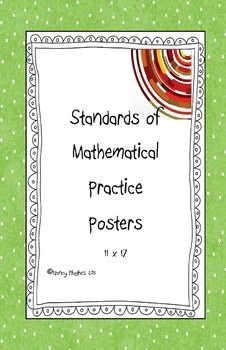 All eight of the Standards of Mathematical Practice on 11 x 17 poster paper for classroom use. Written in student friendly language.Easy to re. Classroom Posters, Math Classroom, Classroom Organization, Classroom Ideas, Teaching Tools, Teaching Math, Teacher Pay Teachers, Teacher Stuff, Mathematical Practices Posters