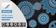 Photoshop Vector Gear Brushes Photoshop Brushes, Gears, Gear Train