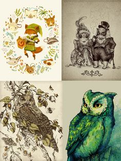 Artist of the Day:  Teagan White is a freelance designer & illustrator from Chicago, currently living and working in St Paul, Minnesota. Her body of work encompasses intricate renderings of flora and fauna, playful depictions of cute anthropomorphic critters, illustrative typography, and everything in between. To see more of her adorable illustrations visit her portfolio: http://www.teaganwhite.com/