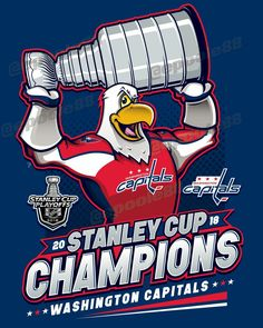 Washington Capitals - 2018 Stanley Cup Champions  ALLCAPS Caps Hockey 3fa485e0a