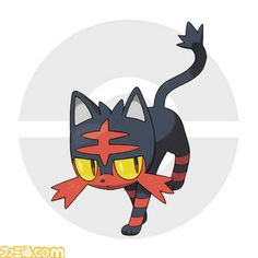 "Type: US Name: Litten Jp. Name: Nyabby (ニャッビー)  Type: Fire-type Classification: Fire Cat Pokémon Height: 1'04"" Weight: 9.5lbs Ability: Blaze    Final evolution type prediction Fire/Dark"