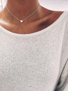 "Silver ""I Heart you"" Tiny Women's Heart Necklace"