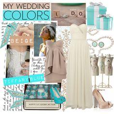 Tiffany Blue & Beige Wedding Colors