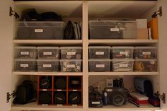 Camera Cabinet: ORGANIZED by dansays, via Flickr