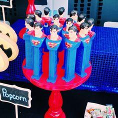 Kristi C's Birthday / Superhero - Photo Gallery at Catch My Party Superman Birthday Party, Batman Party, 6th Birthday Parties, Boy Birthday, Superman Party Favors, Birthday Ideas, Party Fiesta, Avengers, Marvel
