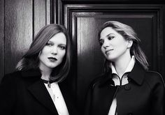 Camille & Léa Seydoux, Porter Magazine issue 4, 2014 #seydouxsisters