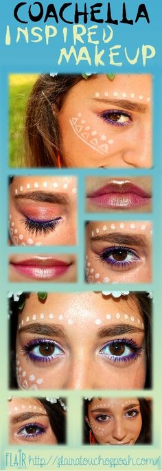 Flair a Touch of Posh-All About Makeup, Beauty, Travel and Style Red Makeup, Makeup Looks, Coachella Makeup, Movie Makeup, Diy Step By Step, Diy Tutorial, Halloween Face Makeup, About Me Blog, Beauty
