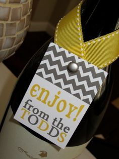 LOVE these. Personalized Wine Tag by maddygdesigns on Etsy, $25.00