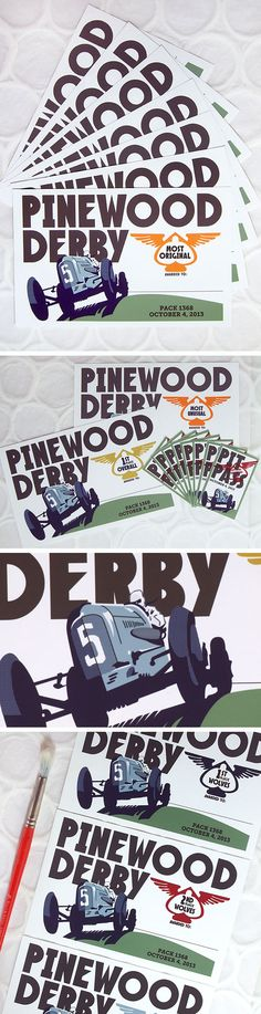 Retro-Cool Pinewood Derby Printable Certificates. Customizable. 48 style awards, 1st, 2nd, and 3rd place awards, and pit passes!
