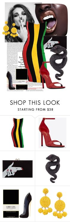 """it's good to be bad"" by ababneh-rose ❤ liked on Polyvore featuring Whiteley, Bob Mackie, Yves Saint Laurent, Charlotte Olympia, Lydia Courteille, Carolina Herrera and Humble Chic"