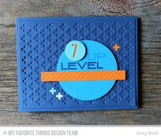 Circle STAX SEt 2 Die-namics, Negative Dot Alphabet, Proof Positive Cover-Up Die-namics, Diagonal Stripes Background, Level Up - Amy Rohl  #mftstamps