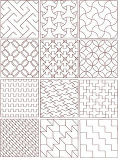 Sashiko Embroidery Template - Knitting Daily