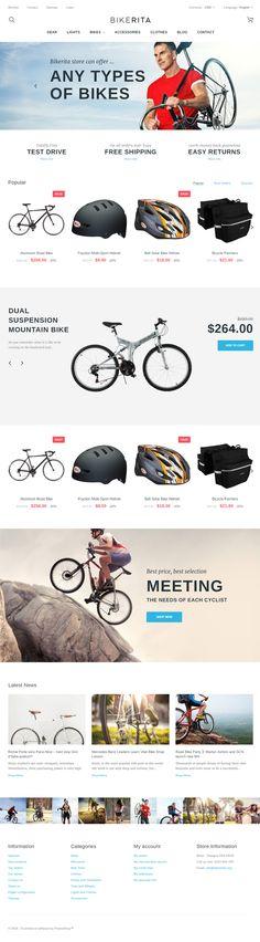 Bikerita is Premium Responsive Parallax #PrestaShop eCommerce Theme. Bootstrap 3 Framework. If you like this #PrestashopBikeStoreTheme visit our handpicked list of best #BikeStore Themes at: http://www.responsivemiracle.com/best-prestashop-bike-store-theme/
