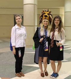 Draco Malfoy, Luna Lovegood, and Hermione Granger from Harry Potter | 36 Delightfully Geeky Cosplays From LeakyCon