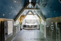 Stunning renovations at Le Grand Bellevue in Gstaad, Switzerland.  The hotel's just undergone a year long renovation (including star lit bathrooms…)