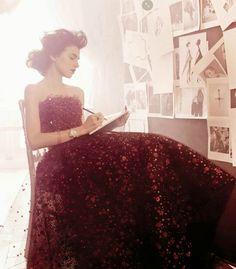 """""""So Precious"""" Langley Fox Hemingway by Michel Comte for Vogue Italia Alta Moda September 2014"""