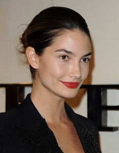 Look is SOO chic, love the hair coupled with the red lip