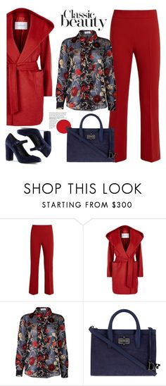 """""""Untitled #497"""" by jovana-p-com ❤ liked on Polyvore featuring MaxMara, The Bee's Sneeze, Diane Von Furstenberg and Lands' End"""